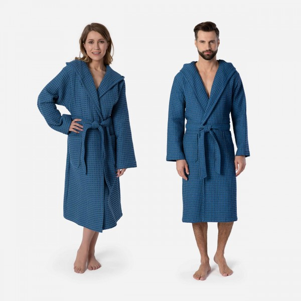 möve Denim hooded bathrobe S. S