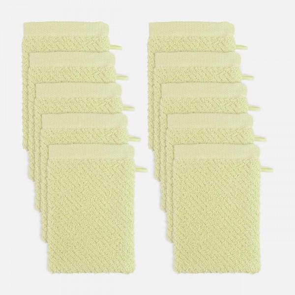 möve Diagonale Waschhandschuhset 10-TLG