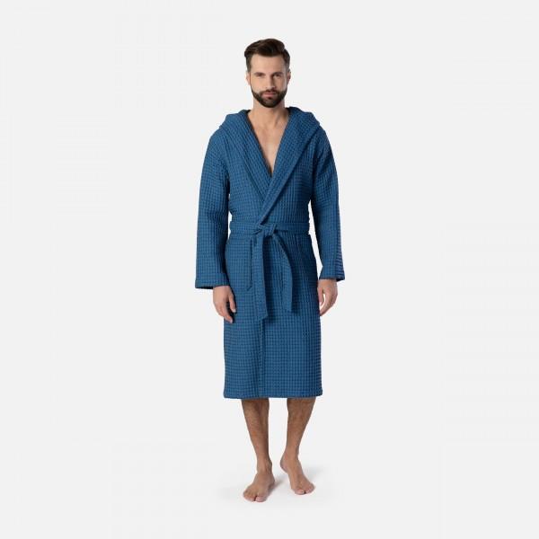 möve Denim hooded bathrobe S.L