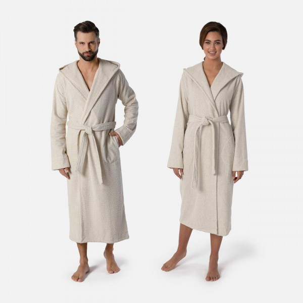 möve Wellbeing hooded bathrobe S. M