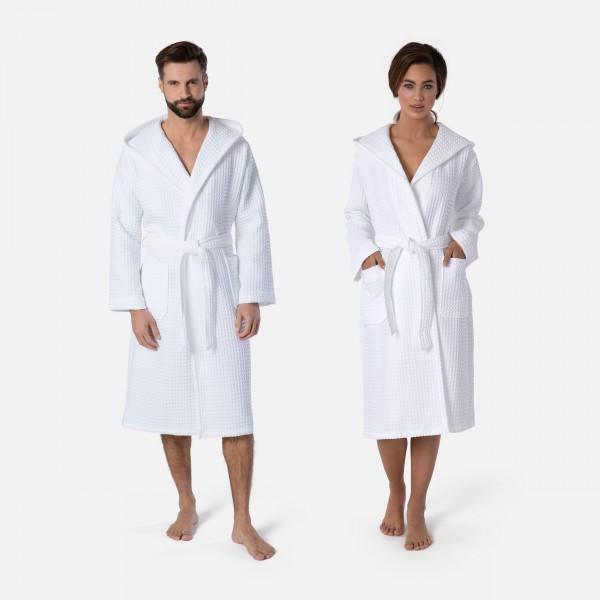 möve Piquée hooded bathrobe S.XL