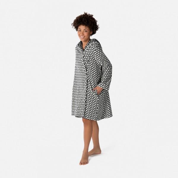 möve Graphic hooded bathrobe S.38
