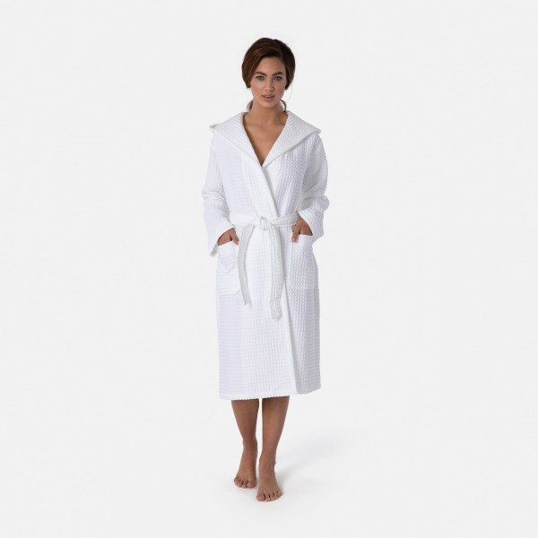 möve Piquée hooded bathrobe S. XL