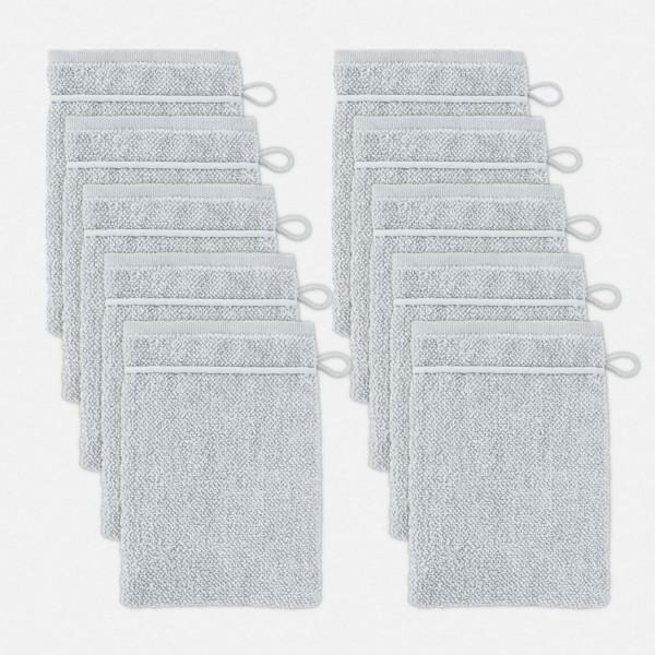 möve Perlstruktur Waschhandschuhset 10-TLG