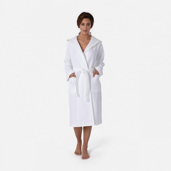 möve Piquée hooded bathrobe S.S